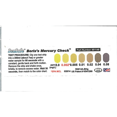 Mercury Test Strips - 20pk